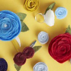 Homemade flower accessories