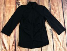 Lafayette 148 New York Black Long Sleeve Button Down Shirt Womens Size 2   Clothing, Shoes & Accessories, Women's Clothing, Tops & Blouses   eBay!