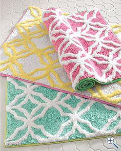 pastel bath mats
