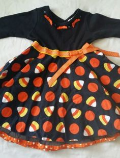 Infant Toddler Girl Halloween Dress Candy Corn Trick or Treat Black Orange 24M in Clothing, Shoes & Accessories | eBay