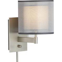 Eclipse Silver Wall Sconce in Sconces | Crate and Barrel - for our bedroom