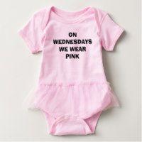 On Wednesdays We Wear Pink Baby Bodysuit