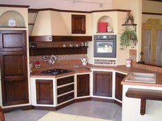 Cucine su misura in massello e finta muratura | cucina muratura ...