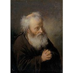Gerrit Dou (Dutch, 1613–1675) A bearded old man oil on panel 17.8 x 12.7 cm. (7 x 5 in.)
