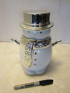 Harry Slatkin Snowman Cookie Jar Signed 2008 Bath Amp Body