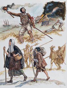 """The Spanish Tercios, late 16th century""  • Pikeman, Tercio of Juan del Águila; Cormwall, 1595  • Camp follower and boy porter, Spanish Road"