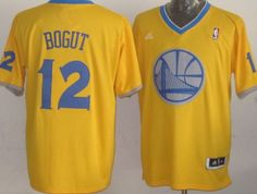 0234941f0 Golden State Warriors  12 Andrew Bogut Revolution 30 Swingman 2013  Christmas Day Yellow Jersey Andrew