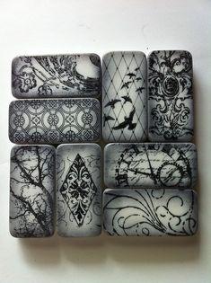 domino black and white set by shellyski's creations, via Flickr