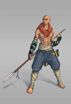 Warrior Monk Concept by chicopixel