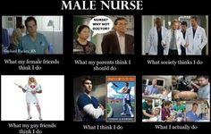 16 Male Nurse Jokes (Of Murses and Men) - NurseBuff Guy Friends, Female Friends, Nursing School Memes, Funny Nursing, Images Of Nurses, Nursing Pictures, Nurse Jokes, School Diary, Nurses Station