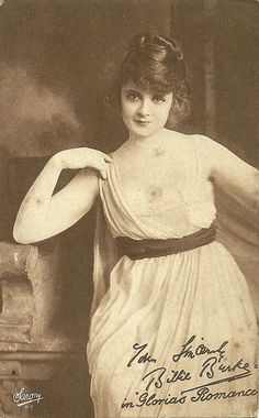 Billie Burke | Photo Sarony, New York. Billie Burke in the serial Gloria's Romance (1916)