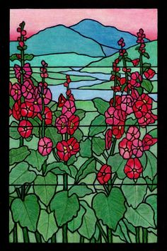 Linda Leachman (18+ division) from Tiffany Designs Stained Glass Coloring Book: http://store.doverpublications.com/048626792x.html