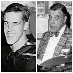 "Frederick Hubbard ""Fred"" Gwynne (July 1926 – July During WW II, Gwynne served in the Navy. Hollywood Stars, Classic Hollywood, Old Hollywood, The Munsters, Famous Veterans, Military Veterans, Military Service, Classic Movies, Classic Tv"