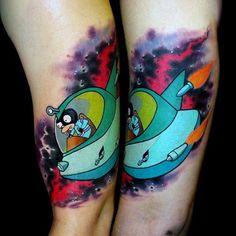 nextluxury.com wp-content uploads space-ship-guys-futurama-tattoo-on-inner-arm.jpg