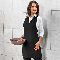 A very attractive and stylish wrap around tunic that offers businesses an alternative solution to traditional tabards and tunics. Available in Black, Dark Grey, Purple and Hot Pink. #Premier #PremierWorkwear #Hospitality #ModernUniforms #Uniform #StylishStaff #DressingYourWorkForce #Functional #Comfort #Flattering