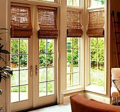Bamboo Blinds on French doors