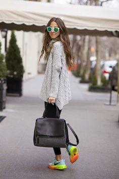 grey knit & hypercolour kicks. Madrid. #SomethingNavy
