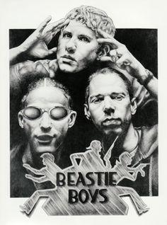Beastie Boys Original Sketch Art Poster Print by by Innerwallz