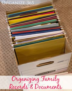 Step-by-step instructions for helping you become organized using the color-coded genealogy research filling system for Organizing Your Family's Genealogy. | Organize 365