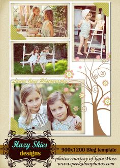 Vintage Tree Blog Board  Story Board  Collage by hazyskiesdesigns, love the tree idea
