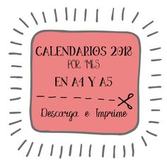 pdf, calendarios,2018, imprimibles, meses, descargar, gratis, a4, a5, julia dreams,