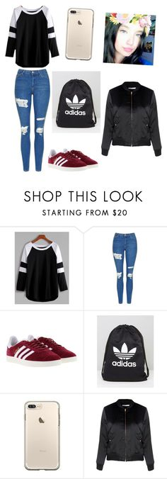 """Untitled #262"" by timcaaa on Polyvore featuring Topshop, adidas and Glamorous"
