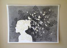 art projects | Rainy Day Art Project: Silhouette Self-Portrait
