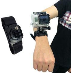 Muñequera Para Cámara Para GoPro Hero GP128 - Este accesorio sirve para poder llevar tu GoPro en tu muñeca. Su fuerte dinero le permite usarse también en tu brazo o tu biceps. Además te permite rotar la cámara en varios ángulos gracias a su mecanismo rotatorio.  Compatible con GoPro Hero 3+/3/2/1             - http://www.vamav.es/producto/munequera-para-gopro-gp128/
