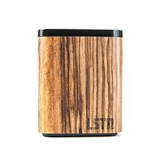 AmazonSmile: LSTN Satellite Cherry Wood Portable Bluetooth Speaker with Built-in Microphone: Home Audio & Theater