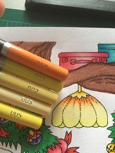 Coloring Books, Coloring Pages, Joanna Basford, Colouring Techniques, Colour Combinations, Color Pallets, Colored Pencils, Art Supplies, Castle