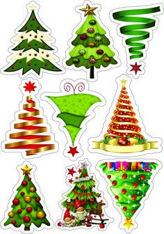 Christmas Paper Crafts, Christmas Wood, Christmas Bells, Christmas Pictures, All Things Christmas, Christmas Ornaments, Christmas Stickers Printable, Christmas Printables, Christmas Cake Topper