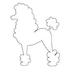 Poodle Applique Pattern Design Patterns