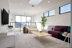 #newhome #newlevel #firsthome #dreamhome #livngroom #diningroom #openplan #openspace #contemporaryhome #concretefloors #highceilings #twostorey #lightandbright #carpet #comfort #windows