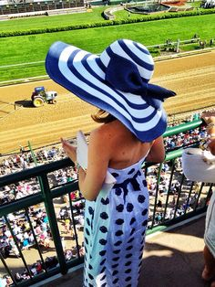 navy + white.  stripes + polka dots Classy Girls Wear Pearls: Derby Day