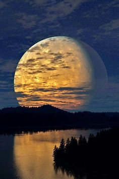 Beautiful Super Moon.  Did you see it in  August 2014?  Another chance in October!