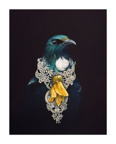 She Of The Kowhai Tree by Jane Crisp - Art Prints New Zealand Tui Bird, Maori Designs, New Zealand Art, Nz Art, Maori Art, Kiwiana, Bird Art, Art Inspo, Cool Art