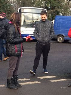 Jamie Dornan with fans in Belfast on January 14, 2016 http://www.everythingjamiedornan.com/gallery/thumbnails.php?album=36 http://www.facebook.com/everythingjamiedornan