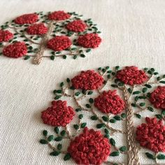 french knots in embroidery Zardozi Embroidery, Embroidery On Kurtis, Kurti Embroidery Design, Embroidery Neck Designs, Hand Embroidery Videos, Floral Embroidery Patterns, Hand Embroidery Flowers, Embroidery On Clothes, Hand Embroidery Stitches