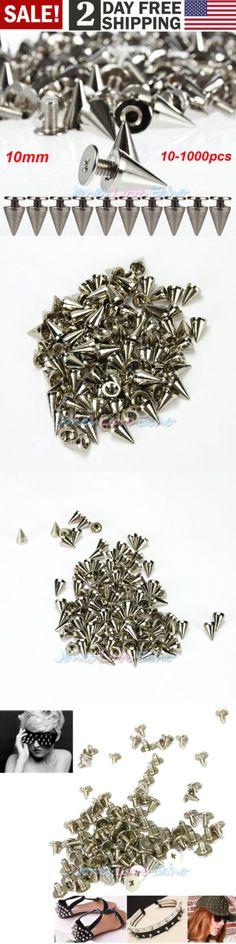 Silver Gun Black Bronze Purse Handbag Feet Nailhead Round Studs Solid Brass Screw Back Spike For Bags Modern Design 50 Pcs/ Lot Gold