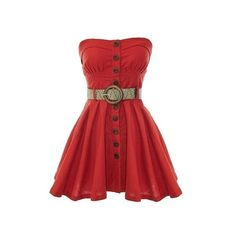 RicketyRack.com. ❤ liked on Polyvore featuring dresses and red dress