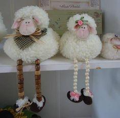 Basket Crafts, Jute Crafts, Pom Pom Crafts, Felt Crafts, Diy Crafts, Sheep Crafts, Bunny Crafts, Pom Pom Animals, Easter Paintings