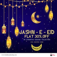 Looking for a great deal?  Hindi karaoke Shop is always up with best  festive offers for all the music lovers out there!! Grab the exclusive offers on Store-wide Collection.To avail the offer, use coupon code- RAMADAN_2018