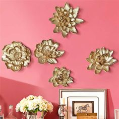 Modern Wrought Iron Lotus Leaf Wall Hanging Crafts Wall Decoration Livingroom Sofa Background Wall Sticker Mural Ornaments Art| | - AliExpress Cheap Wall Stickers, Wall Stickers Murals, Flower Crafts, Flower Art, Lotus, Wall Hanging Crafts, Arte Floral, 3d Wall, Resin Crafts