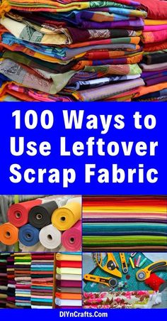 If you love sewing, then chances are you have a few fabric scraps left over. You aren't going to always have the perfect amount of fabric for a project, after all. If you've often wondered Scrap Fabric Projects, Small Sewing Projects, Fabric Scraps, Hemp Fabric, Buy Fabric, Halloween Sewing Projects, Fabric Sewing, Fabric Remnants, Plaid Fabric