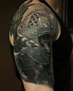 Bird Tattoos On Shoulder . 35 Bird Tattoos On Shoulder . Shoulder Piece Tattoo, Bird Shoulder Tattoos, Mens Shoulder Tattoo, Tattoos Arm Mann, Skull Tattoos, Body Art Tattoos, Sleeve Tattoos, Bird Tattoos, Viking Tattoo Sleeve