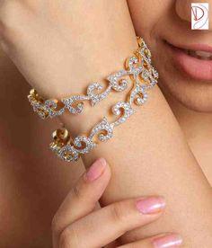 Diva Sparkling American Diamond Bangle Pair at Rs.519 – Shop at ...
