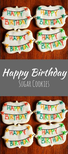 One Dozen Birthday Cookies - Birthday Party Favor - Birthday Banner Cookie - Decorated Cookies #affiliate