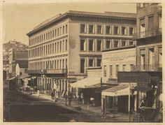 San Francisco, 1856. Photo by unknown. Montgomery Block, Montgomery Street.