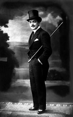 "Max Linder, (1883-1925) started about 1905 in film, and created a comedy character named ""Max"" who was a wealthy, skirt chasing man. Carlie Chaplin admired him greatly. After much success, he committed suicide in Paris at age 41. Go figure..."