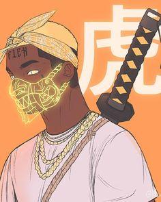 Cyberpunk Anime, Cyberpunk Art, Character Design Animation, Character Art, Hood Wallpapers, Black Cartoon Characters, Dope Cartoon Art, Beautiful Sketches, Arte Obscura